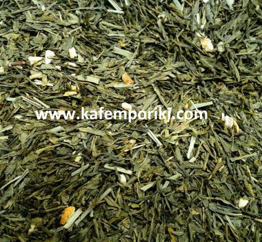 πράσινο τσάι Sencha με λεμόνι